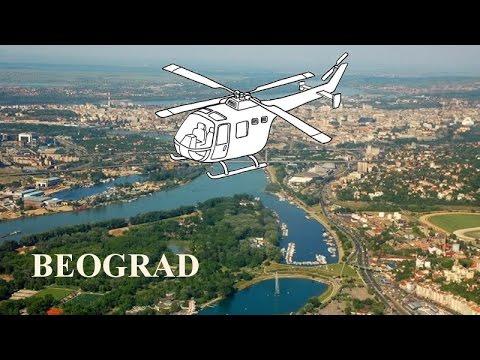 Beograd iz helikoptera , iz vazduha Sava Dunav Kalemegdan Srbija