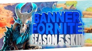 Banner Template Fortnite season 5 Tier 100 skin !
