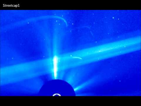 UFOS Fly Past SOHO Satellite Camera Today. HD.
