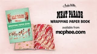 Meat Parade Wrapping Paper Book - Archie Mcphee
