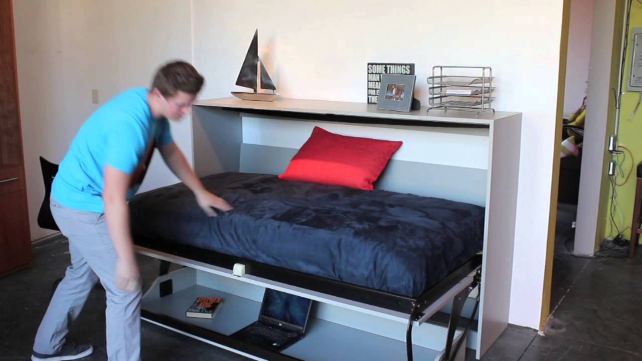 Horizontal Murphy Bed With Desk - Hostgarcia