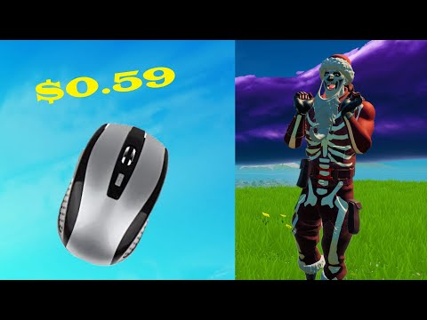 Using The CHEAPEST MOUSE On Amazon To Play Fortnite