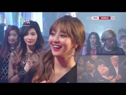 170119 SMA BTS REACTION TO TWICE WIN SONG OF THE YEAR
