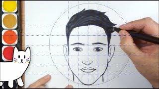 CUM SA DESENEZI UN OM ( capul din fata )/ HOW TO DRAW A FACE MALE