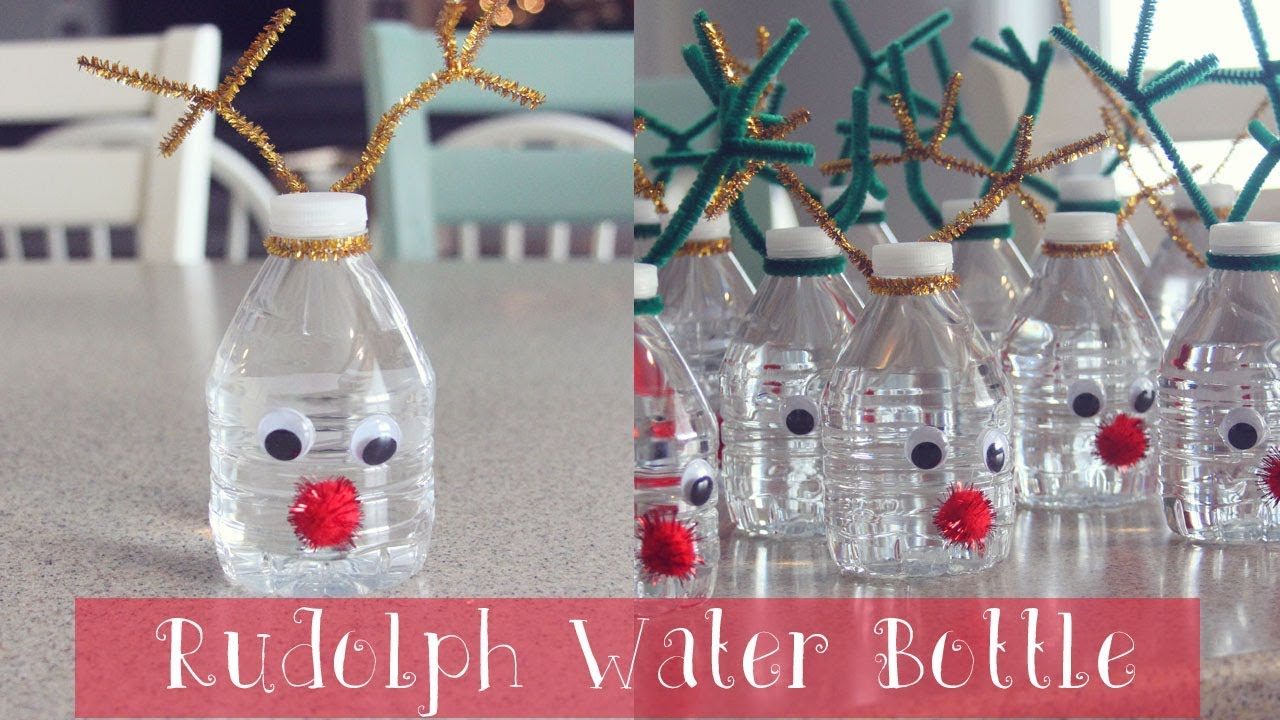 How To Rudolph Water Bottle Christmas Craft For Kids