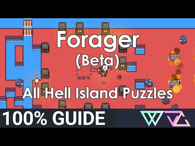 Forager (Beta) - 100% Guide: All Hell Island Puzzles Quests (Overworld)