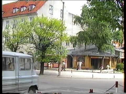 Gołdap   spacerkiem po mieście 1992r  0 06 godz