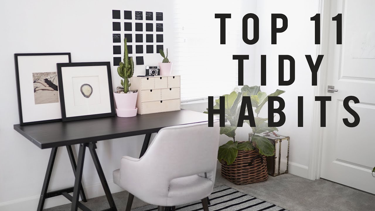 tidy office. 11 TIDY HABITS For Back To School + Your Home Office | ANN LE Tidy C