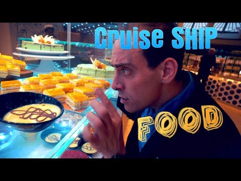 All The Cruise Ship Food On The P&O Pacific Explorer