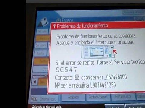 How to reset Ricoh Error Code sc542 sc546 sc548 problem