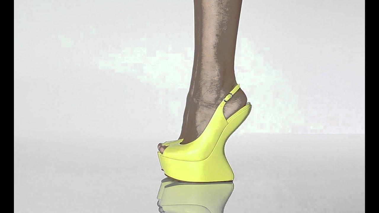 347dc31be501 Yellow peep-toe SS 2012 - YouTube