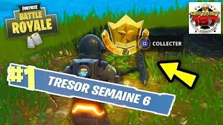 FORTNitE DEFI PAS OF COMBAT S4 FOUILLER IN A GAME AIRE A CAMPING TERRAIN... TUTO