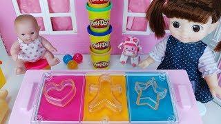 Baby Doll and Play Doh cookie cooking food toys pororo play 아기인형 쿠키 플레이도우 과자 만들기 뽀로로 장난감놀이 - 토이몽