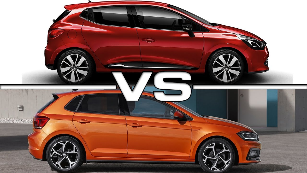 2017 Renault Clio Vs 2018 Volkswagen Polo Youtube