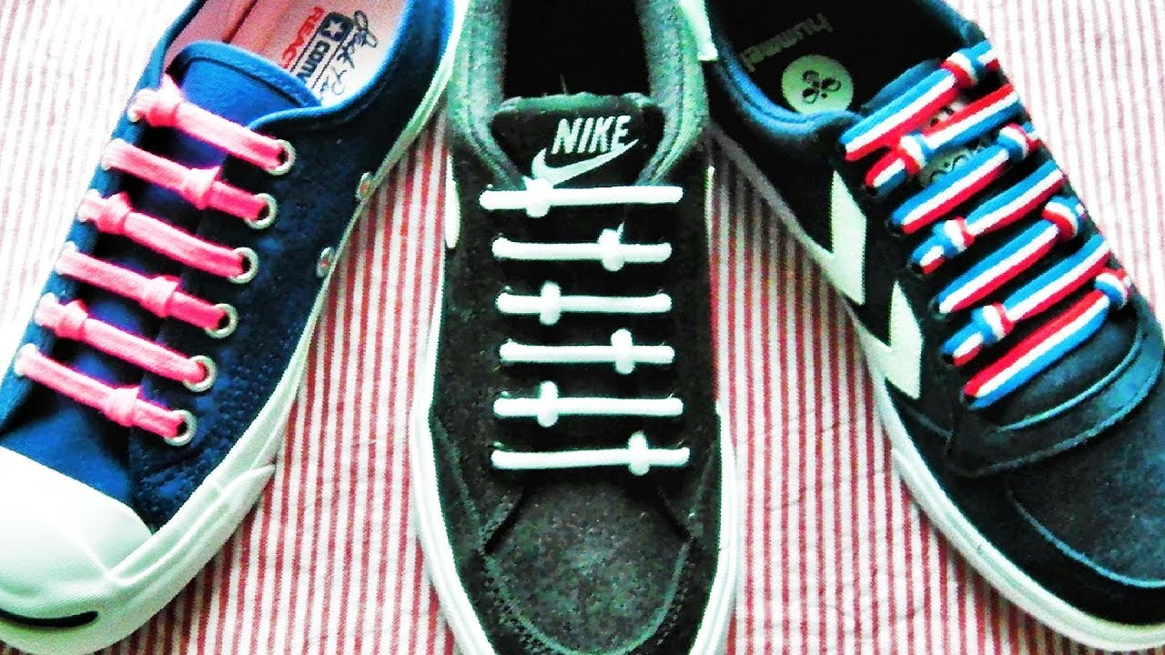 〔靴紐の結び方〕てんてん模様がかわいい靴ひもの通し方 how to tie shoelaces 〔生活に役立つ!〕