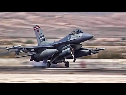 F-16 Fighter Jets Preflight + Takeoff/Landing At Nellis AFB