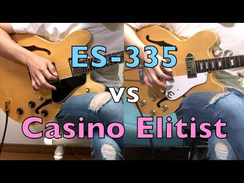 Gibson ES-335 vs Epiphone Casino Elitist | Guitar Comparison - Shootout