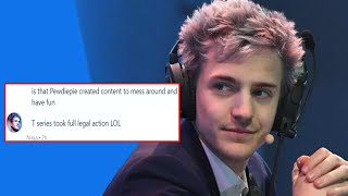 Ninja Throws Shade At T Series For Court Order Against PewDiePie