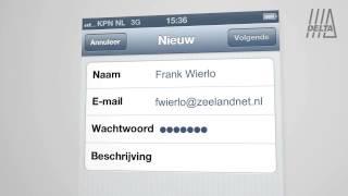 Instructie e-mail instellen op een iPhone toestel of iPad