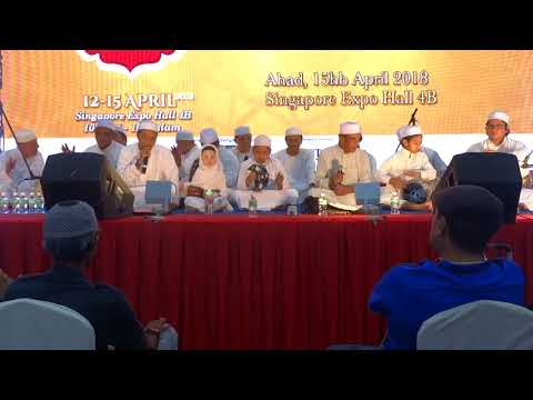 Assalamu alayka ya Rasulallah..Qaafilah Zikrullah at Singapore Expo in 15 Apr 2018