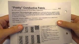 E-Textile Summercamp 2013 Swatchbook Exchange (example video)