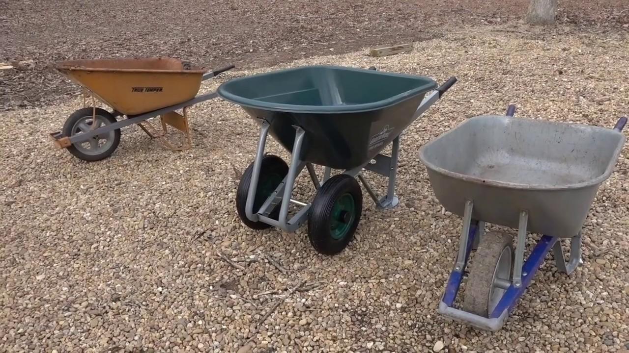 Download Best Wheelbarrow for Landscaping? Single, Dual Wheel, Metal, Poly?