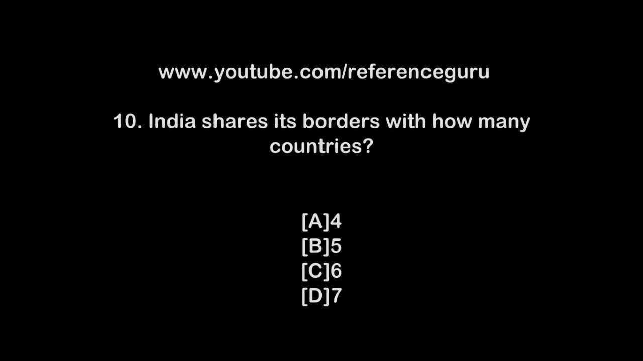 General Knowledge questions for competitive exams in india ...