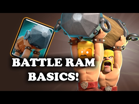 Intro to Battle Ram | Basic Interactions Using/Countering | Clash Royale