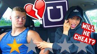 PICKED UP MY BOYFRIEND IN AN UBER UNDER DISGUISE!!