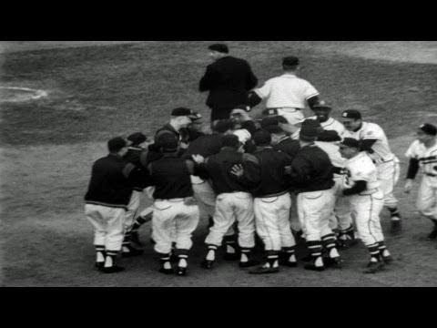 HD Stock Footage 1957 World Series New York Yankees vs. Milwaukee