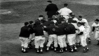 HD Stock Footage 1957 World Series New York Yankees vs. Milwaukee