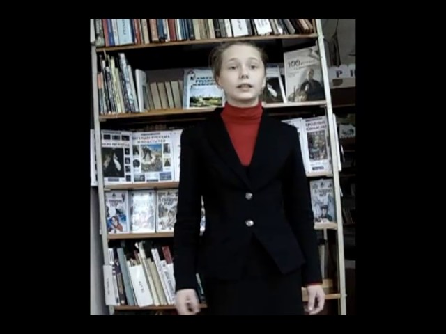 Изображение предпросмотра прочтения – СофьяШишкина читает отрывок изпроизведения «Крестьянские дети» Н.А.Некрасова