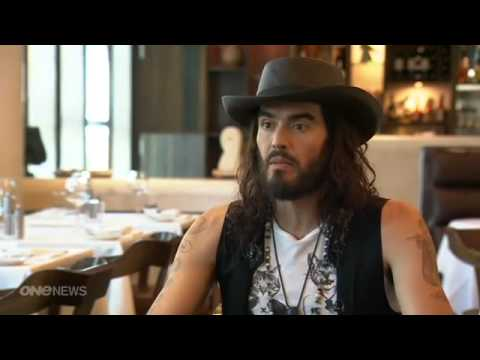 Russell Brand credits yoga for keeping clean