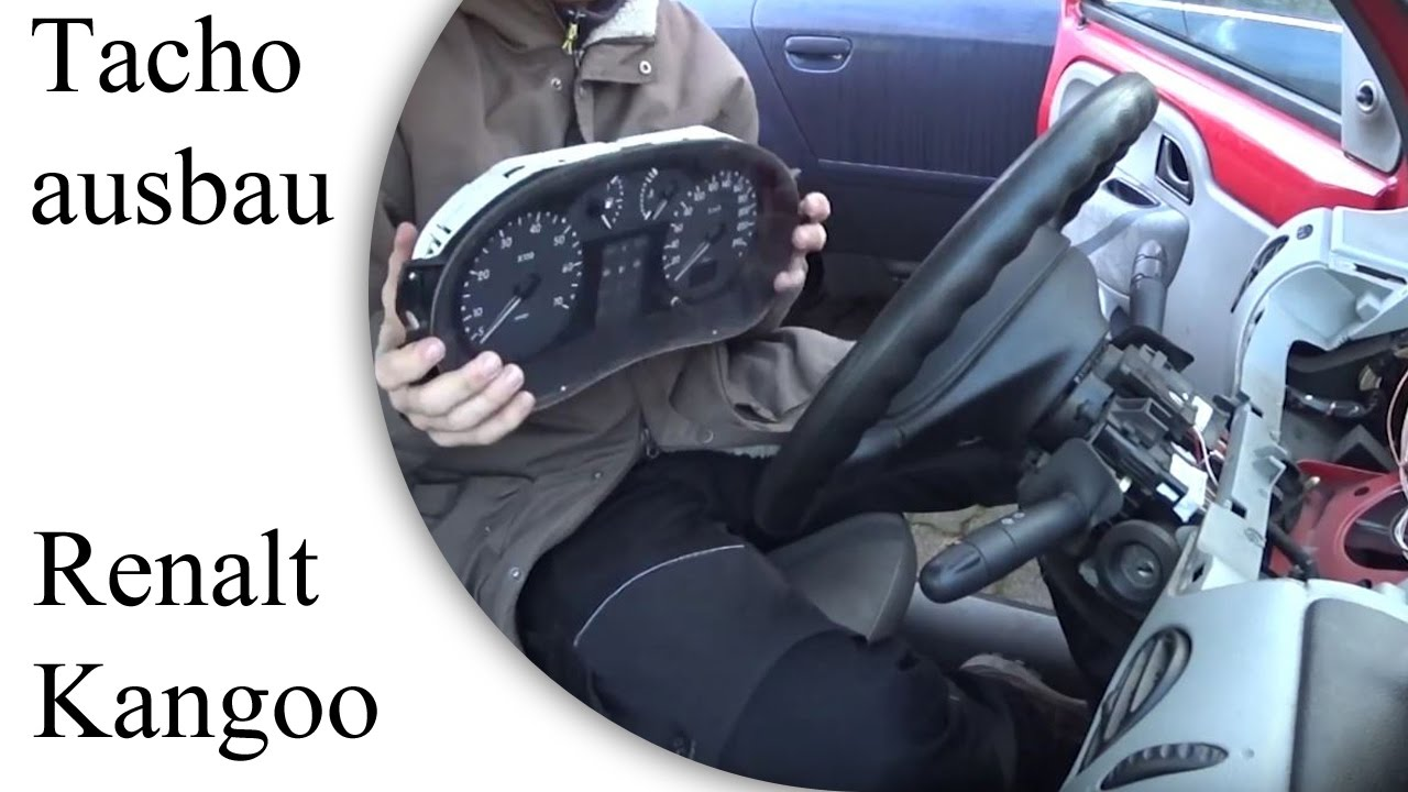 Tacho ausbauen Renault Kangoo - YouTube
