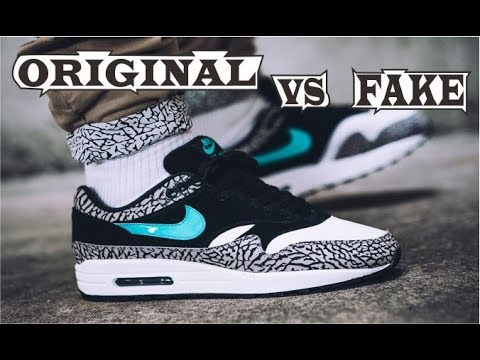76c26ec0ec7c0b Nike Air Max 1 Atmos Elephant 2017 Original   Fake - YouTube