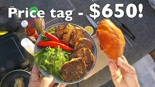 Delicious Crab Cakes recipe with Mangrove Jack Fishing Catch and Cook EP.411