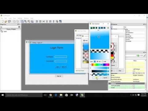 Python PyQt : Css StyleSheet Designing Form - YouTube