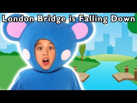 London Bridge is Falling Down | Learn Building Blocks | Mother Goose Club Songs for Children