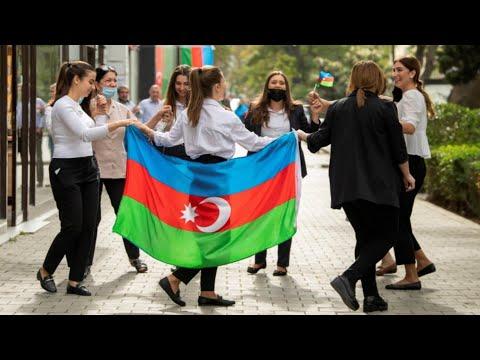 Azerbaijan People Celebrate Victory over Nagorno-karabakh