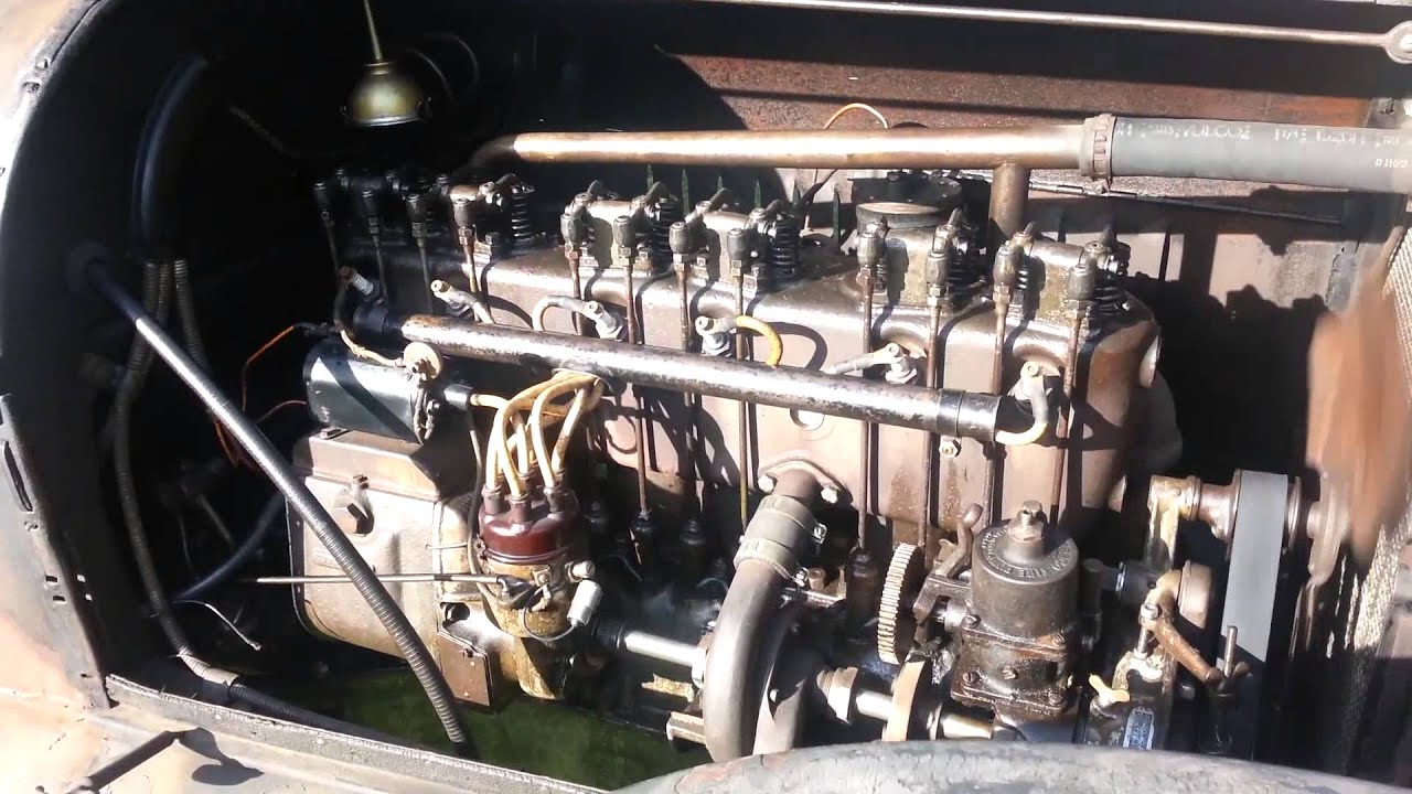 1918 buick motor operating w external pushrods tappets and rocker arms youtube. Black Bedroom Furniture Sets. Home Design Ideas