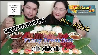 Ultimate Pinoy Breakfast online collab with @Phie ASMR Mukbang | Happyboys Foodtube