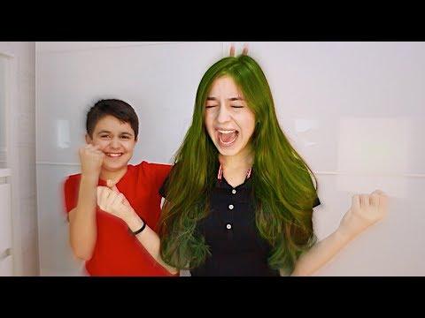 انتقم مني و صبغ شعري أخضر..😭😱