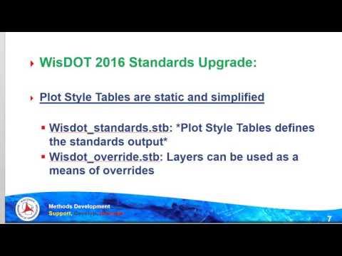 Civil 3D WisDOT 2016 Software Update & Standards Release