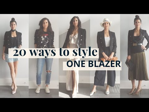 Blazer Outfit Ideas, 1 Blazer, 20 Ways! | Styling Closet Essentials | Slow Fashion - YouTube