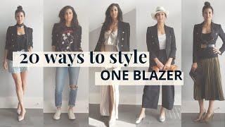 How to Style One Blazer 20 Ways! | Styling Closet Essentials | Slow Fashion
