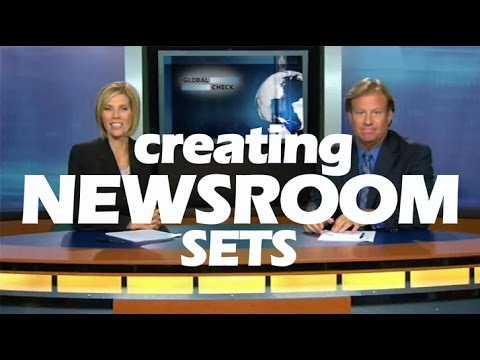 Create a Newsroom Set for your Video Productions