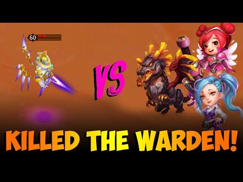 3 Heroes FULL 3 Minute Stun Lvl 60 Warden Boss FOR THE WIN! Castle Clash