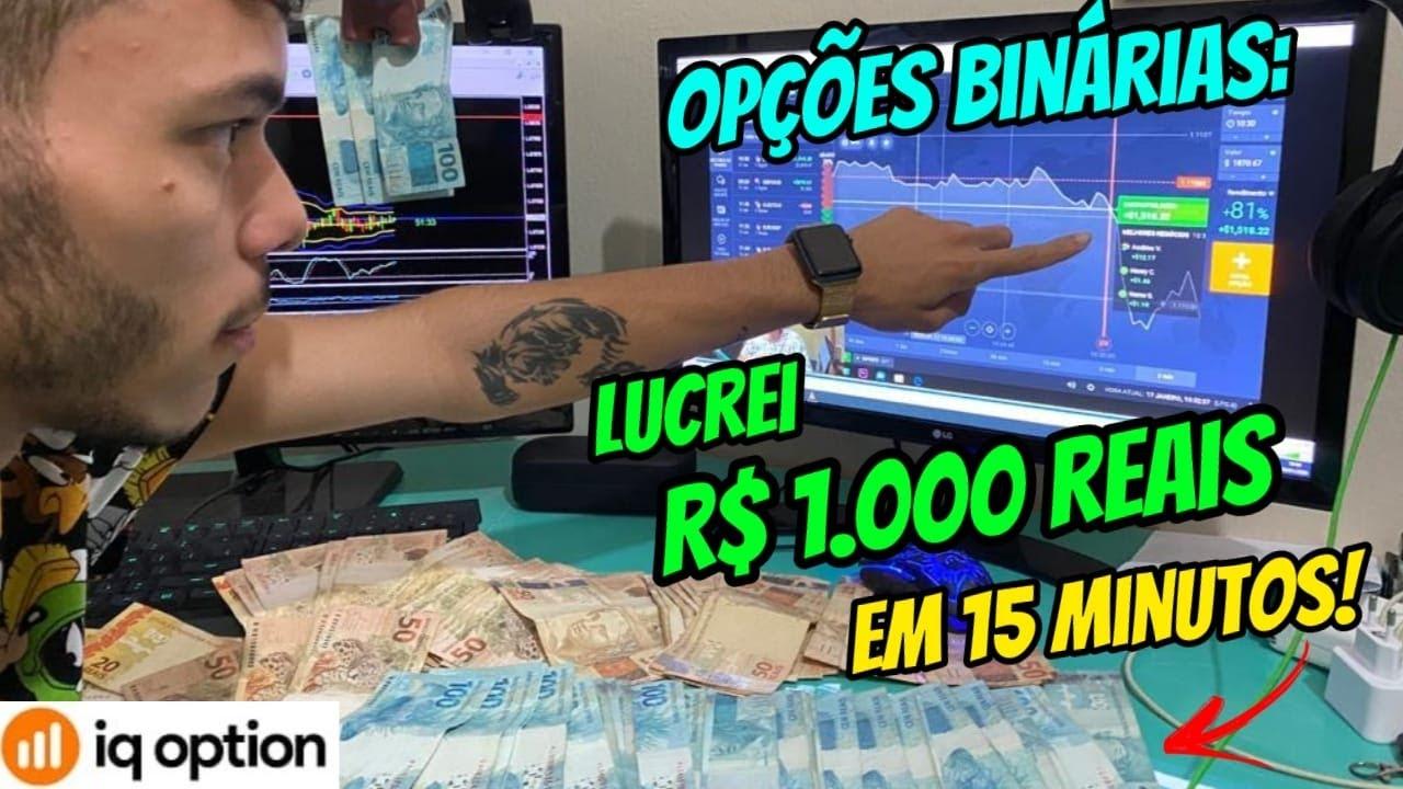 IQ OPTION: VEJA COMO LUCREI R$1.000,00 REAIS EM 15 MINUTOS  CADASTRE AQUI NO LINK ABAIXO