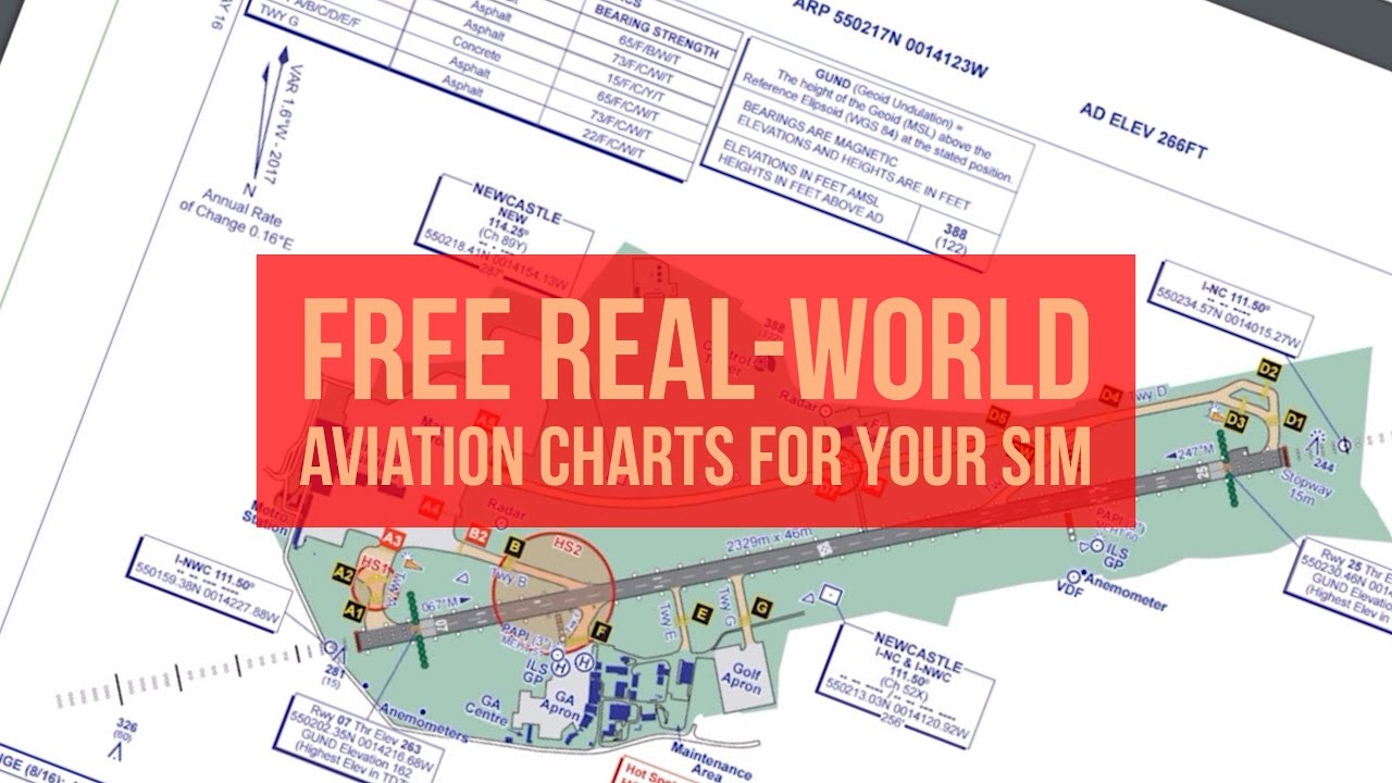 Get real world aviation charts for free inc instrument approach sid star taxi and en route youtube also rh