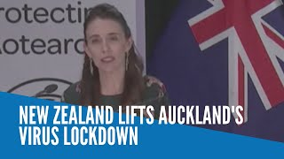 New Zealand lifts Auckland's virus lockdown